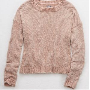 AERIE CHENILLE CROP SWEATER size L